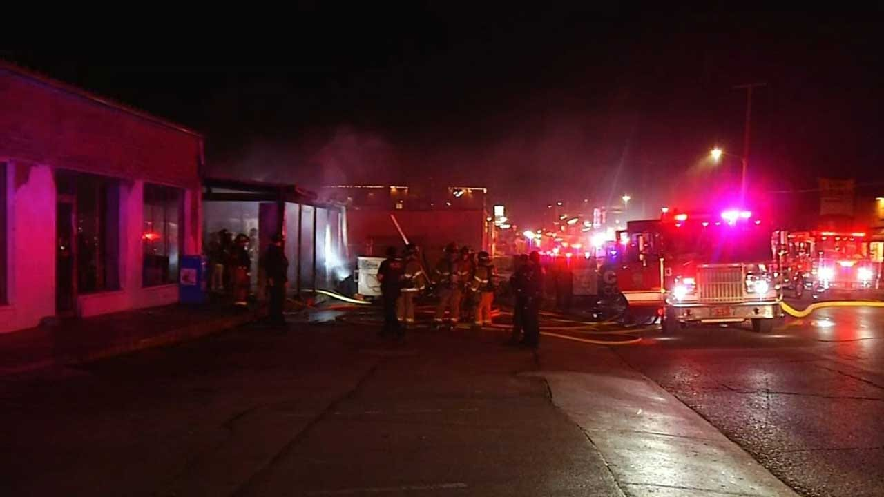 Tulsa Firefighters Put Out Large Fire At Cherry Street Subway