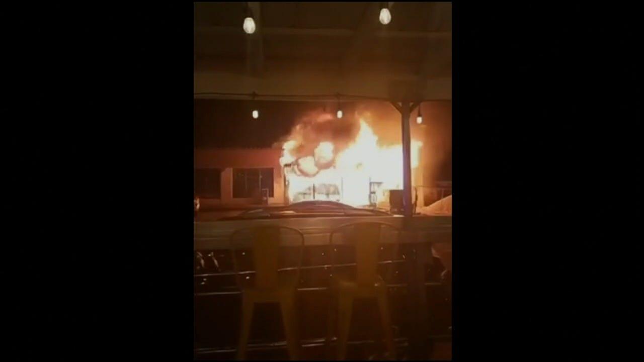 WATCH: Large Fire At Tulsa Subway