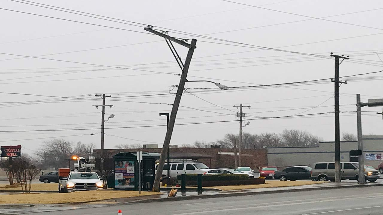 Parts Of 11th & Sheridan Closed In Tulsa After Car Strikes Power Pole