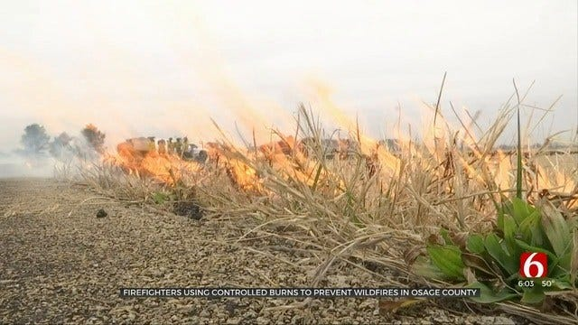 Crews Fight Fire With Fire In Osage County