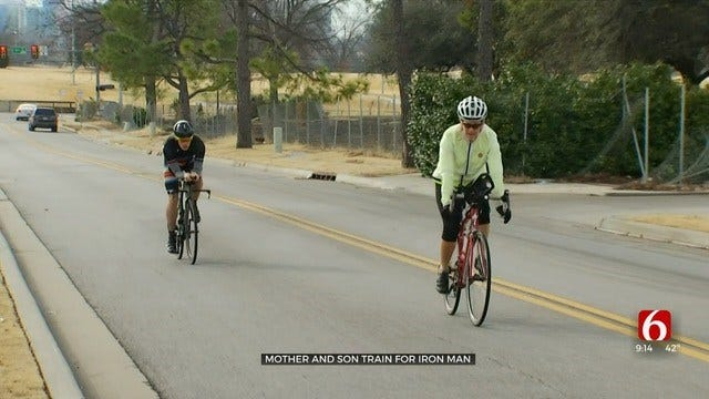 Tulsa Woman, Son Training For Ironman Competition