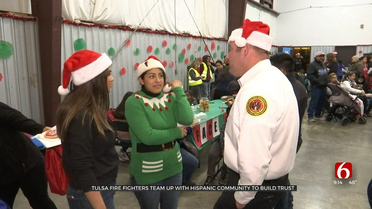 Tulsa Firefighters Team Up With Hispanic Community To Build Trust
