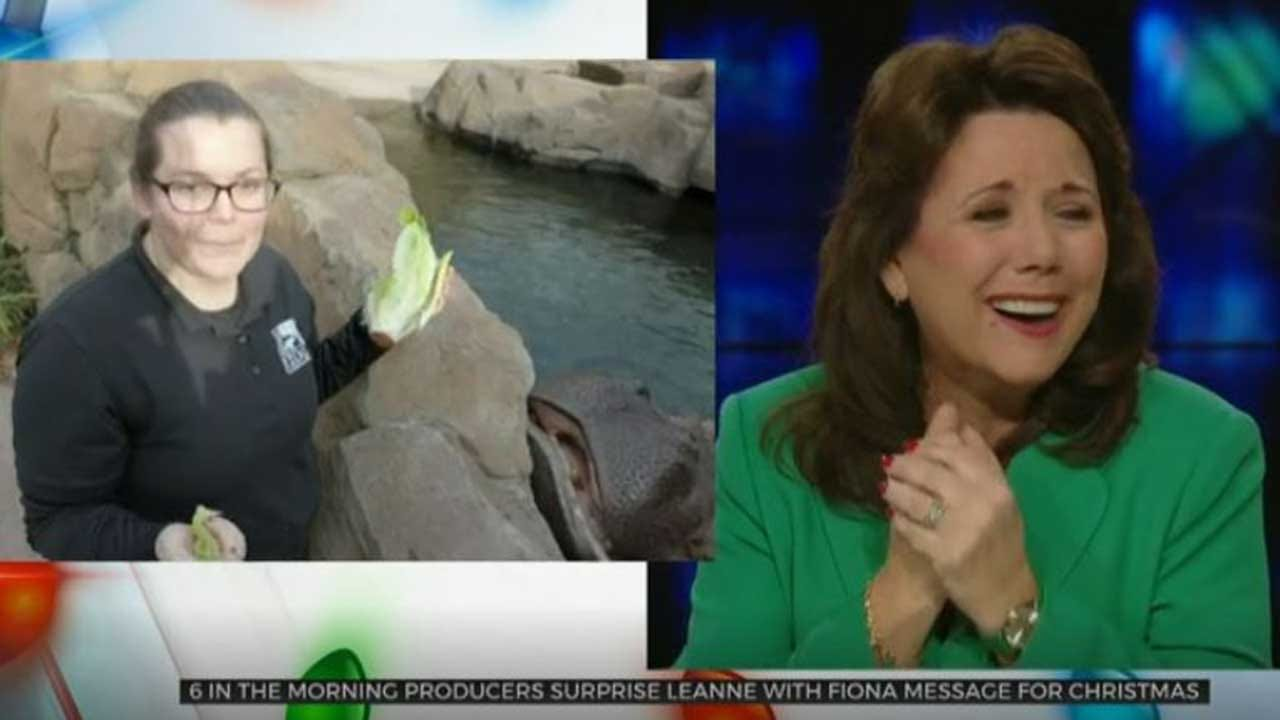WATCH: News On 6's LeAnne Taylor Gets Surprise Holiday Message From Fiona The Hippo