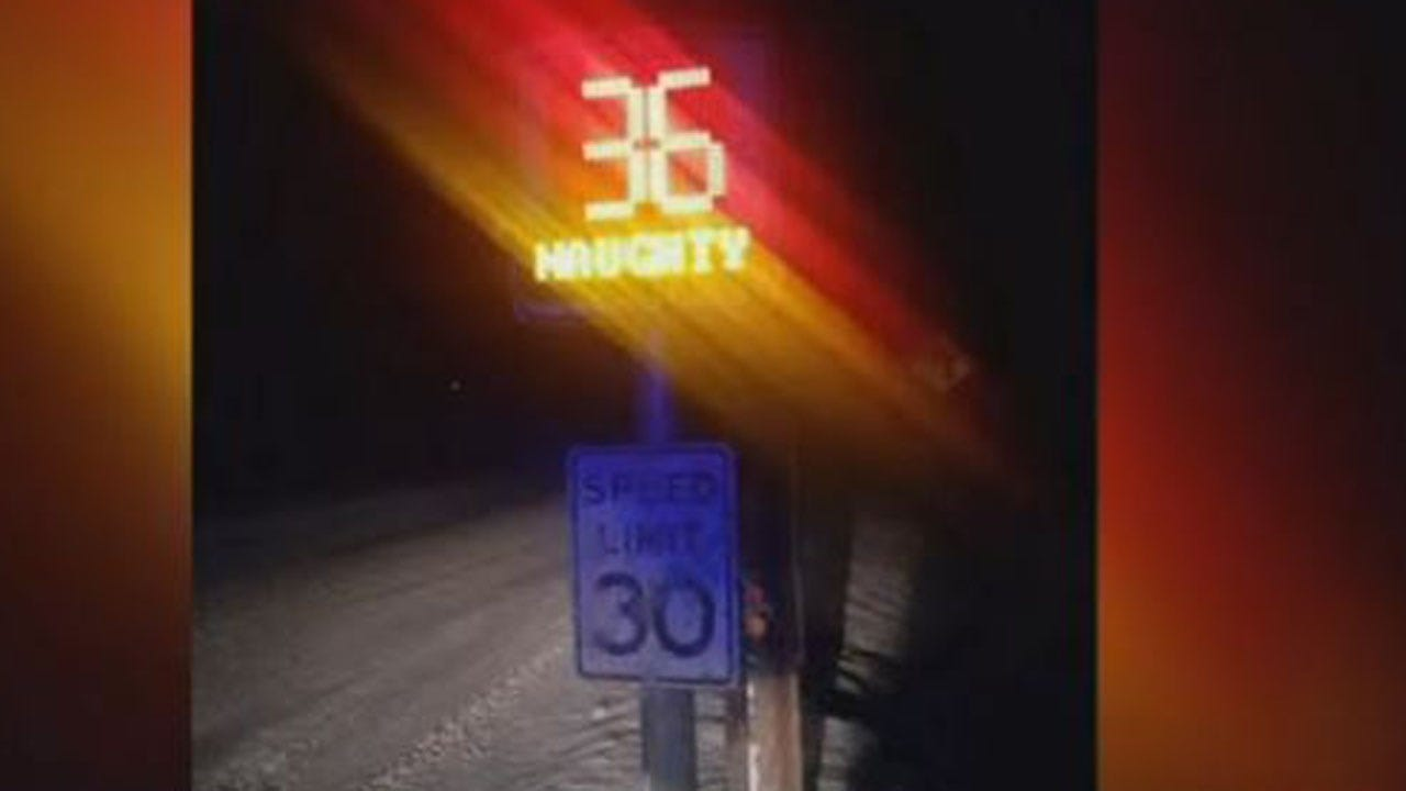 WATCH: Radar Tells Drivers If They're Naughty Or Nice