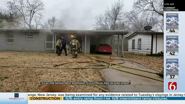 Tulsa Family OK After Electrical Fire In Home