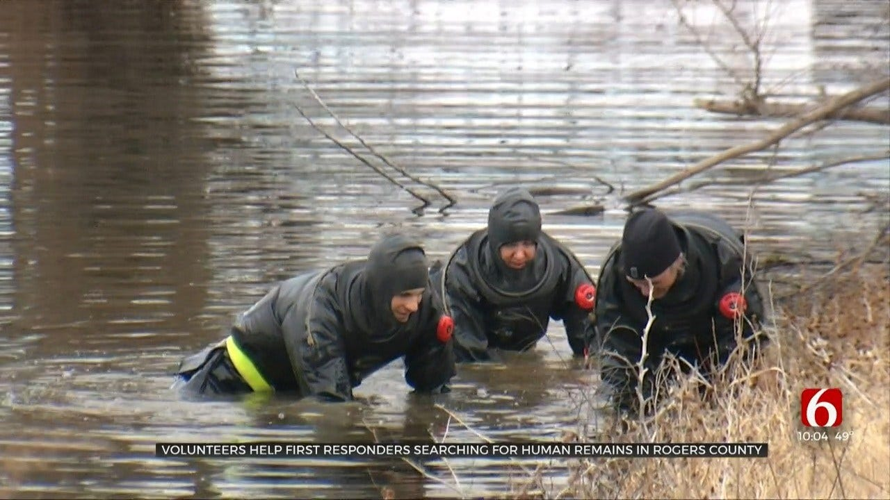 Volunteers Help First Responders Searching For Human Remains In Rogers County