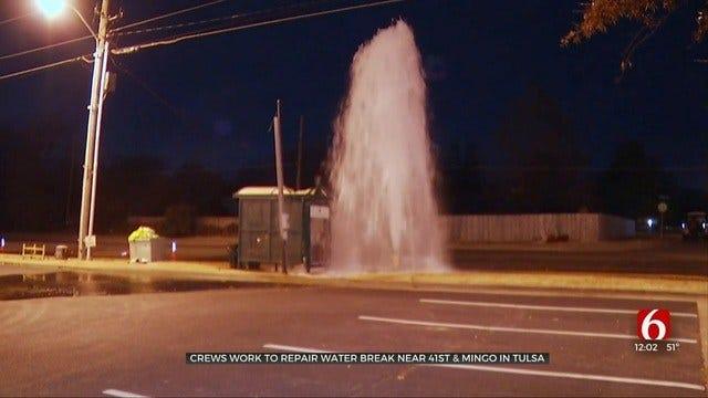 City Crews Repair Tulsa Water Break