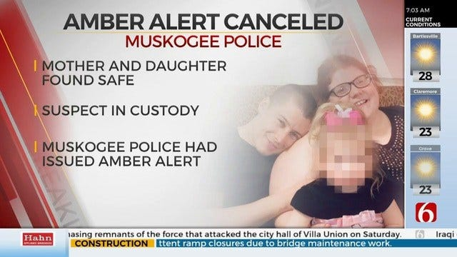 Amber Alert Canceled For Missing Child, Mother After Muskogee Stabbing