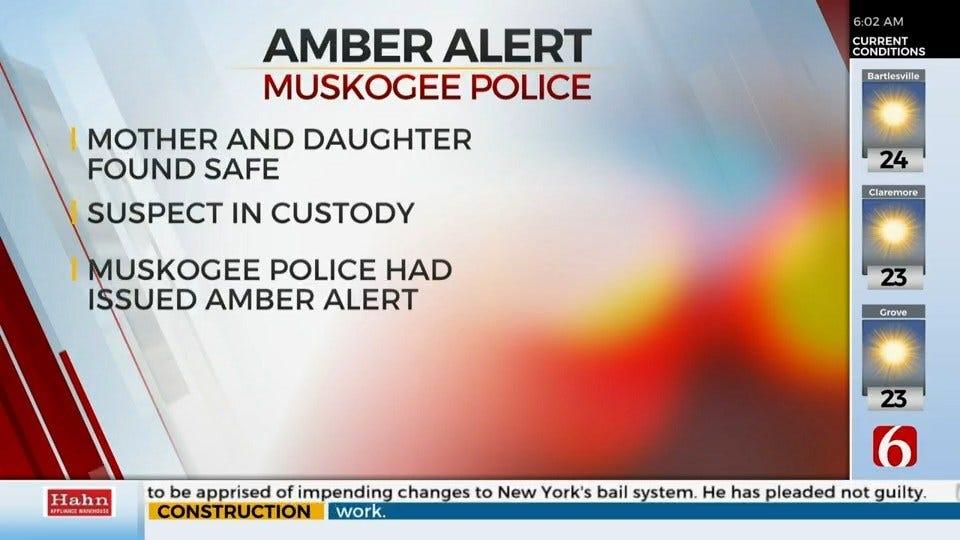 Amber Alert Canceled For Missing Child, Mother After Muskogee Stabbing