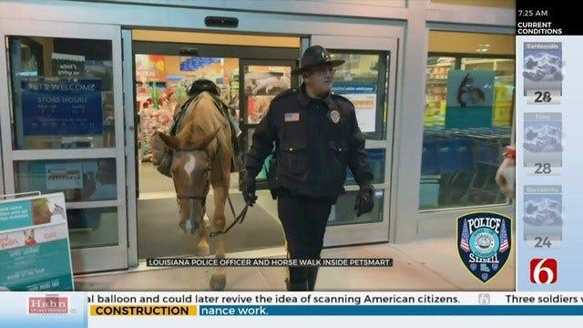 WATCH: Officer, Horse Go Shopping At PetSmart