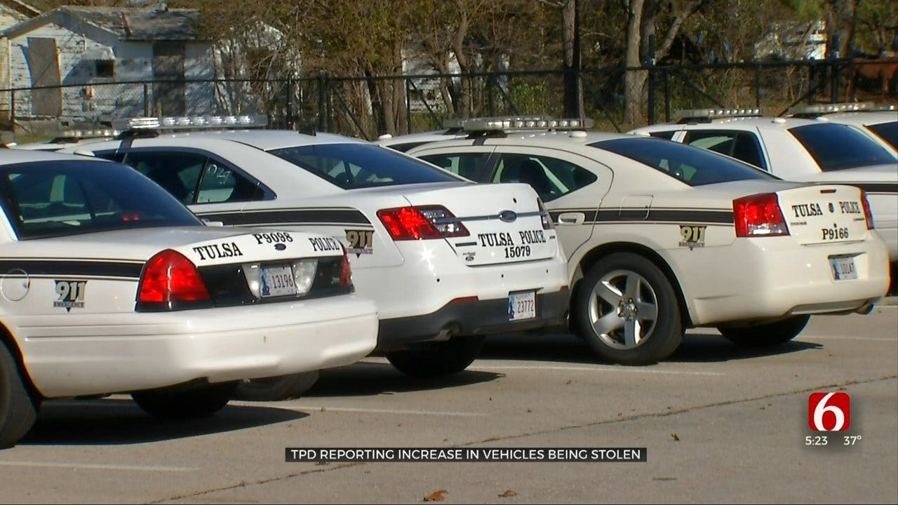 Tulsa Police: Stolen Vehicles Are On The Rise