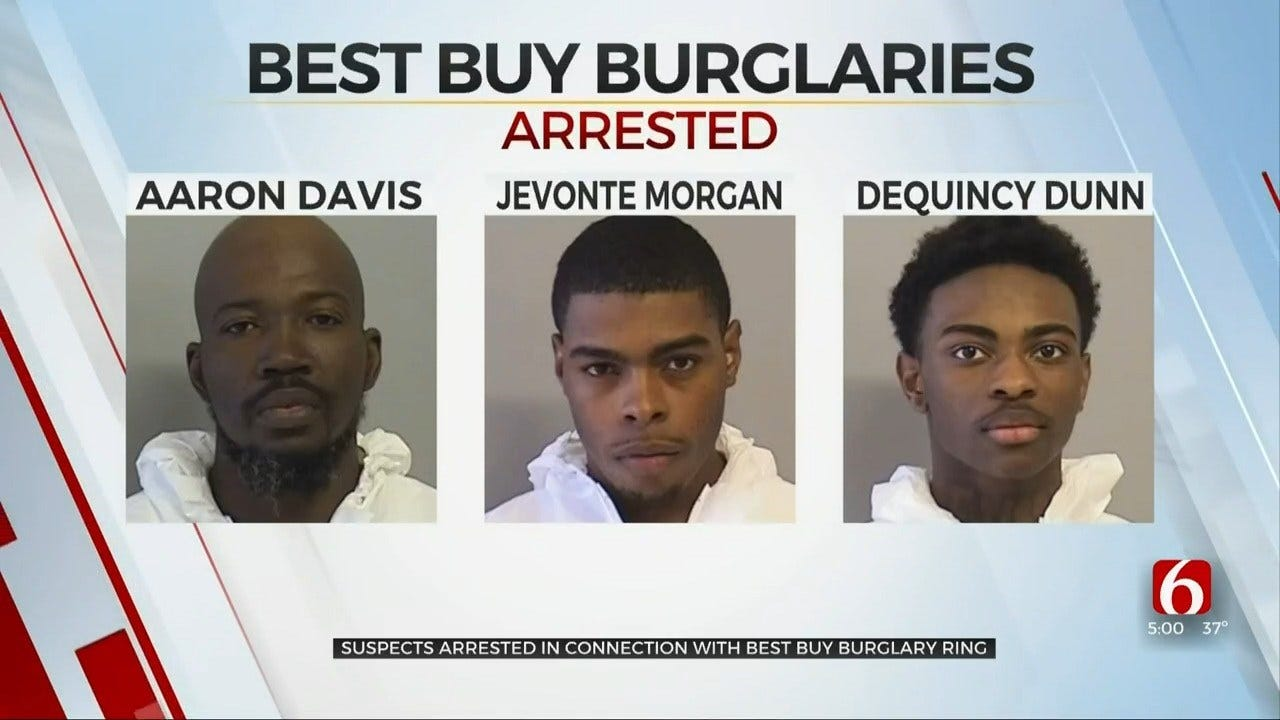 Tulsa Police: Suspects Arrested Connected To Best Buy Burglary Ring