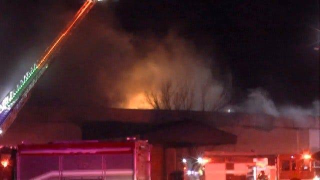 WATCH: Firefighters Battle Tulsa Church Building Fire