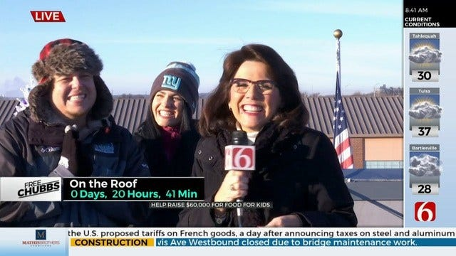 Free Chubbs Update: LeAnne Taylor Joins Chubbs Atop News On 6 Roof
