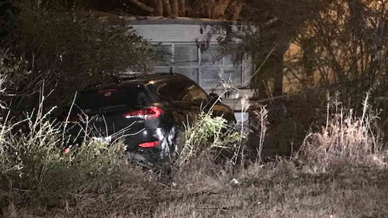 Creek County Chase Ends In Crash, Hits Mobile Home