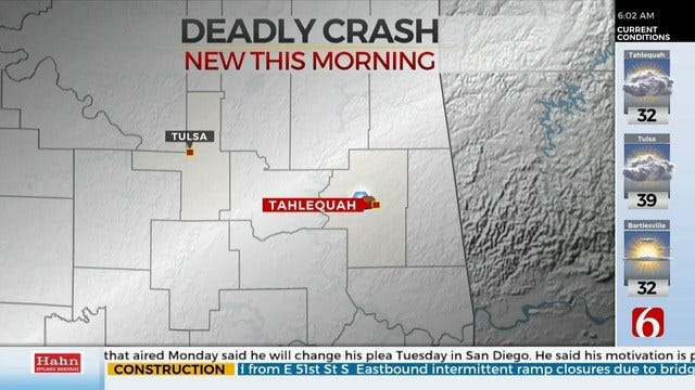 2 Killed in Cherokee County Crash, OHP Says