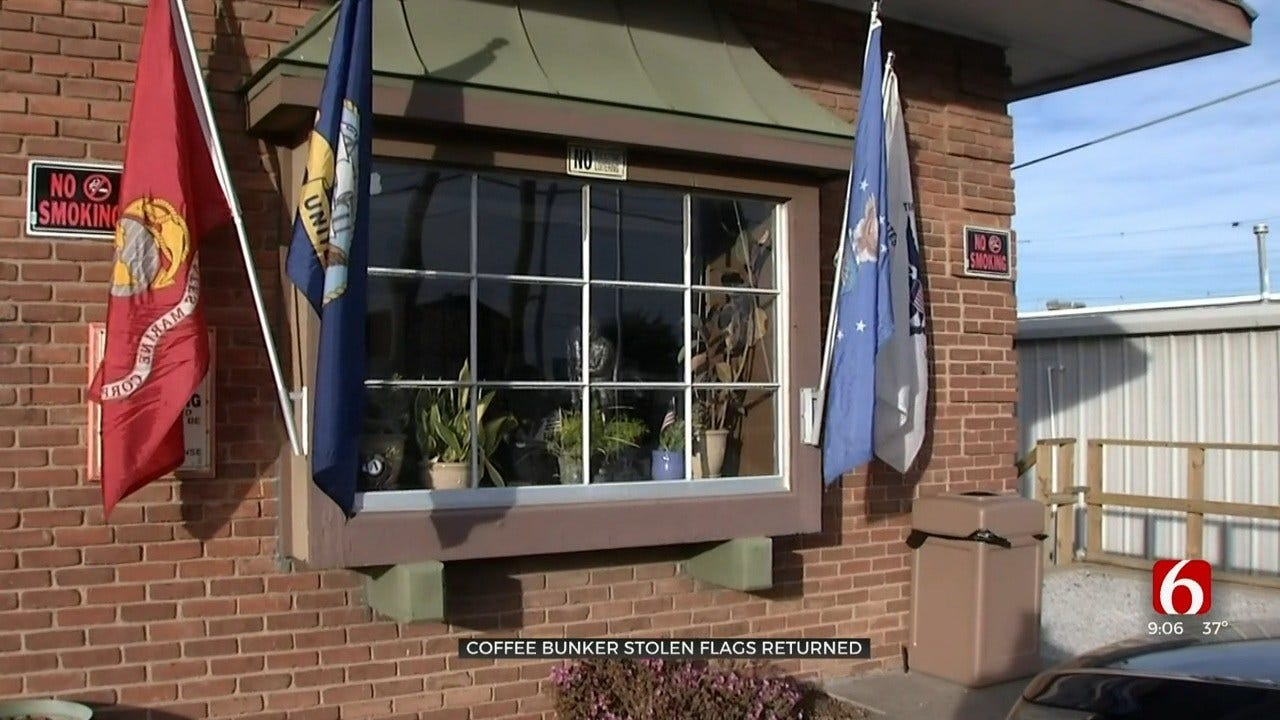 Tulsa's Coffee Bunker Recovers Stolen Flags After Facebook Post