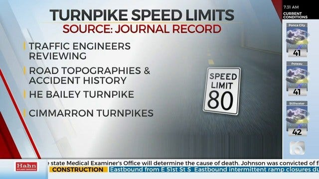 Officials Say More Research Needed Before Turnpike Speeds Change