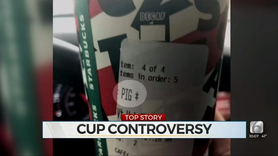 Starbucks Cups Labeled 'PIG' Sold To Oklahoma Officer, Police Chief Says