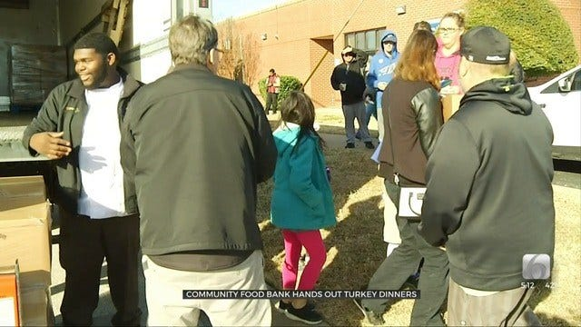 Food Bank Hands Out Thanksgiving Meals To Tulsa-Area Families