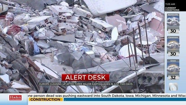 Earthquakes Hit Multiple European Countries