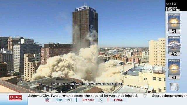 Former South African Bank Demolished