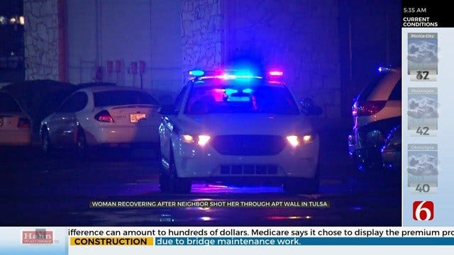 Tulsa Police: Woman Injured After Being Accidentally Shot Through Wall