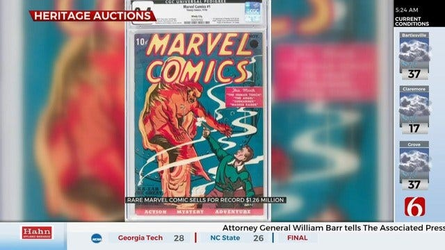 Update: Rare Marvel Comic Book Sells, Sets New Record