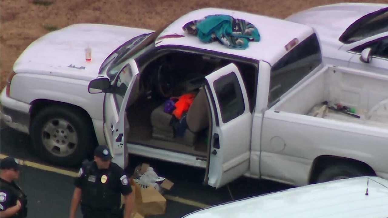 WATCH: Jenks Campus Police Stop Vehicle With Drugs, Guns Inside