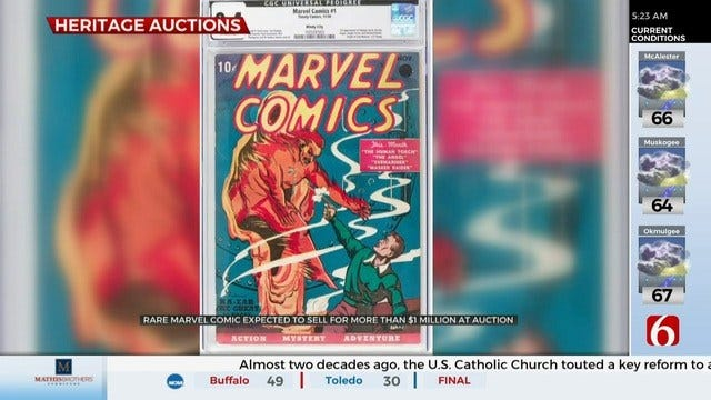 Rare Comic Book Goes Up For Auction