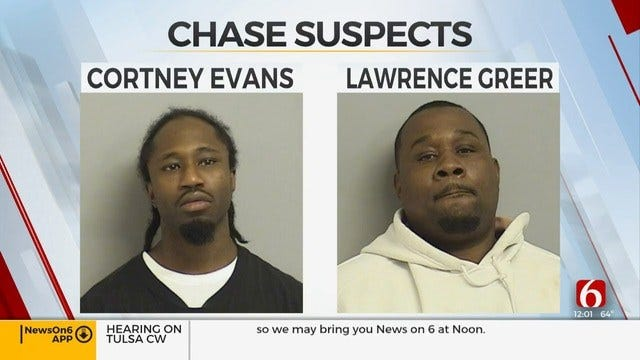 2 Men In Custody After Tulsa Police Chase