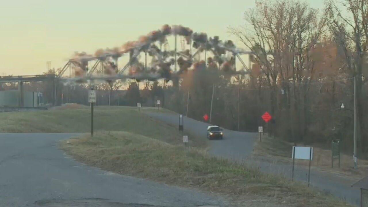 WATCH: Demolition Crews Bring Down Bridge In Arkansas