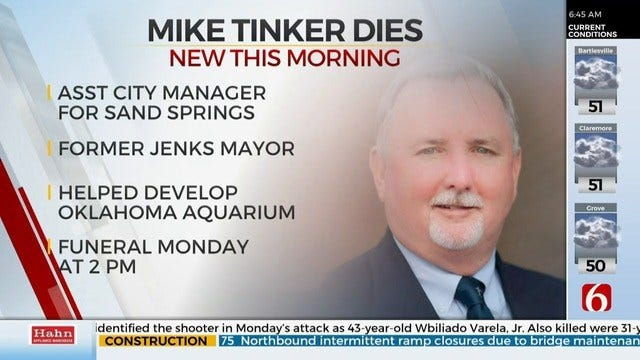 Former Jenks Mayor Mike Tinker Has Passed Away