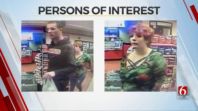 Tulsa Police Searching For 2 People Suspected Of Credit Card Theft