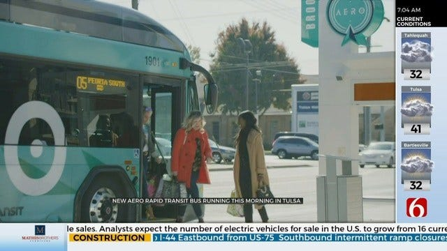 WATCH: News On 6's Reagan Ledbetter Takes A Ride On New Rapid Transit Bus