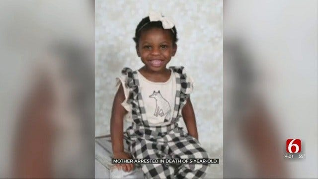 Broken Arrow Mother Accused Of Killing 3-Year-Old Adopted Daughter