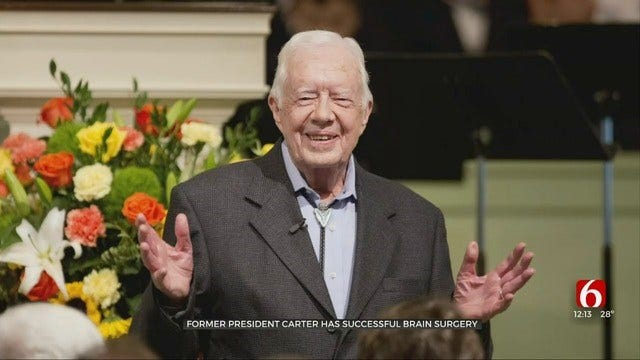 Former President Jimmy Carter Recovering After Surgery To Relieve Pressure On His Brain