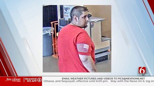 Crime Stoppers: Man Suspected Of Stealing From Truck Parked At Tulsa Home Depot