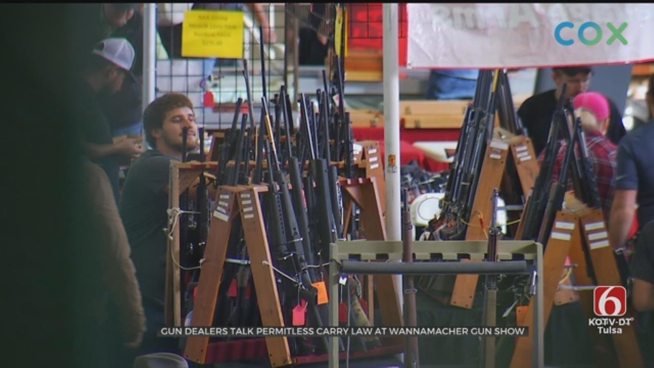 Gun Dealers Speak On Permitless Carry Law At Tulsa Gun Show