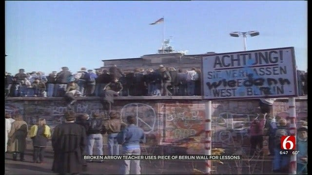 Broken Arrow Teacher Shares Memories Of The Berlin Wall With Students