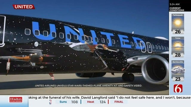 WATCH: United Airlines Unveils Star Wars Themed Aircraft