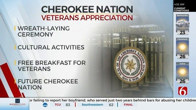 Cherokee Nation Hosting Annual Veteran's Appreciation Day