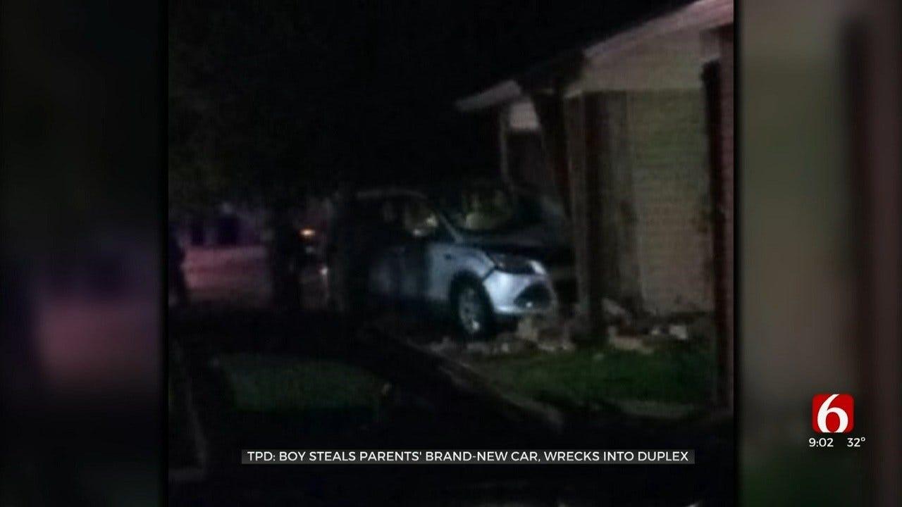 12-Year-Old Crashes Car Into Tulsa Duplex