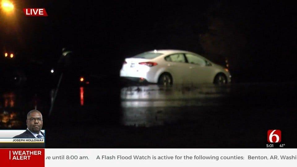WATCH: Flooding Closed 101st At Garnett In Broken Arrow