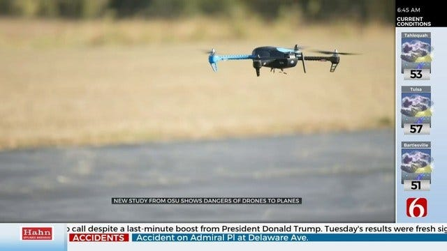 OSU Study Finds Drones Pose Growing Danger For Aircraft Pilots