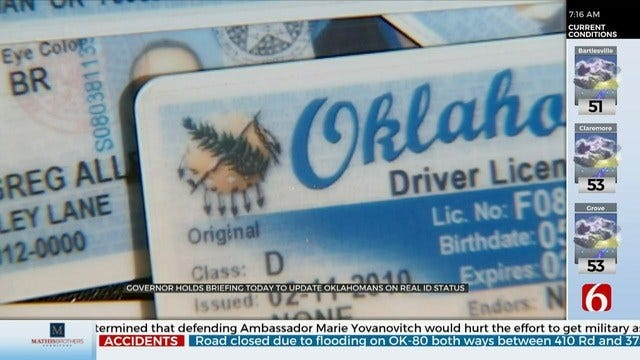Gov. Stitt To Hold Update On Real ID Compliance Efforts