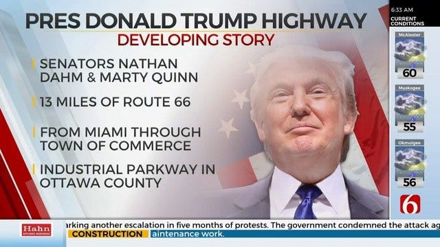 Oklahoma Lawmakers Announce Bill To Name Highway After President Trump