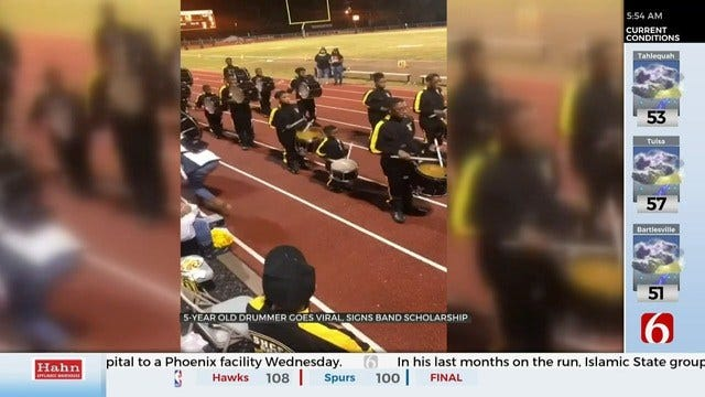 WATCH: 5-Year-Old Joins Band, Plays Drum