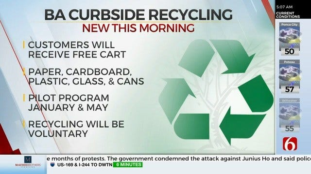 Broken Arrow City Council Passes Curbside Recycling
