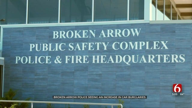 Vehicle Break-Ins Increasing, Broken Arrow Police Warn Car Owners
